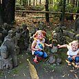 at the neighborhood shrine