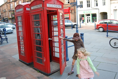 Our first English telephone booth!